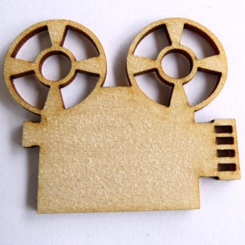 Movie Projector (Set of 3) - Wood Veneers