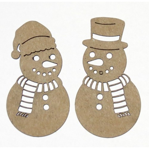 Mr and Mrs Snowman - Winter