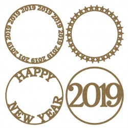 Happy New Year Artist Trading Coins