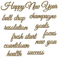 New Years Word set
