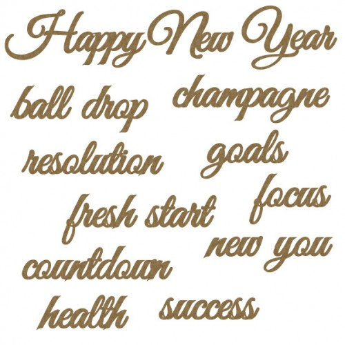 New Years Word set - Words