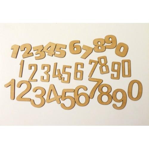 Numbers - Wood Veneers