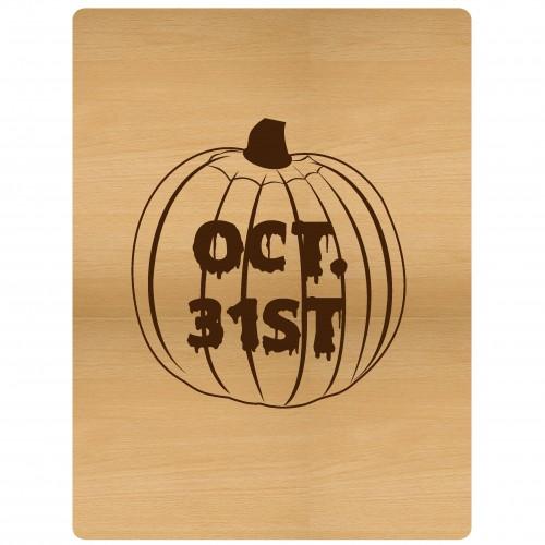 """Oct. 31st Pumpkin Pocket Card - 3""""x4"""" Cards"""