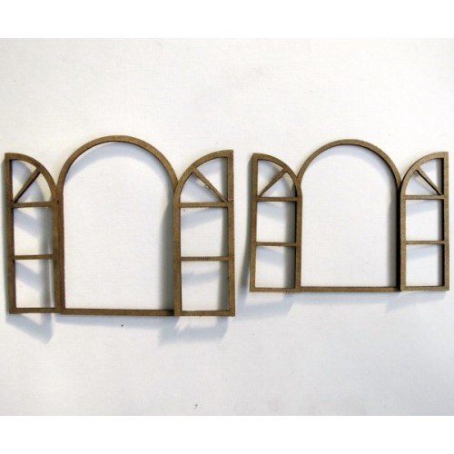 Opened Arched Windows - Windows and Doors