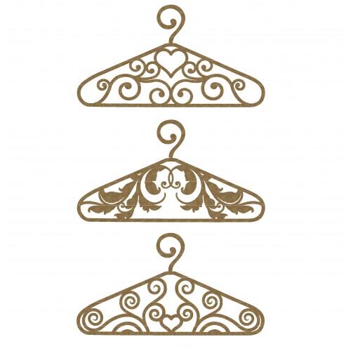 Ornate Hangers - Chipboard
