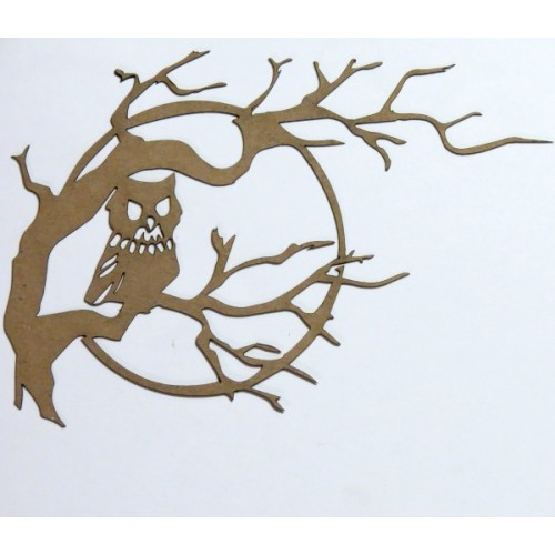 Owl on Branch - Halloween