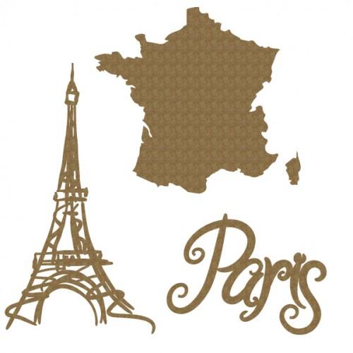Paris Set - Chipboard