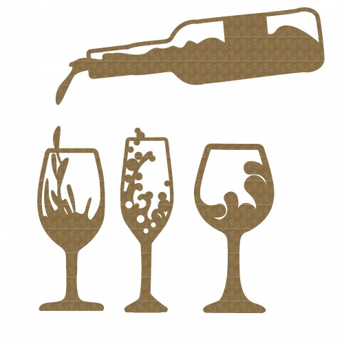 Wine Pouring Set - Chipboard