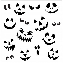 Pumpkin Face Stencil