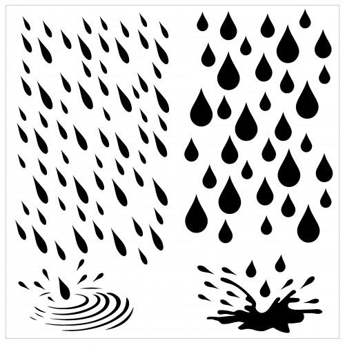 Raindrop Stencil - Stencils