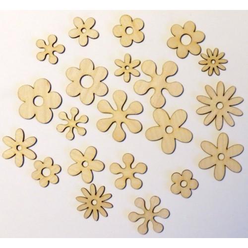 Retro Flowers - Wood Veneers