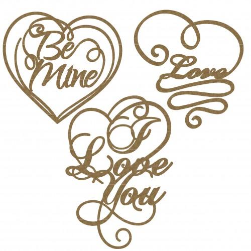 Valentine Word Hearts - Words