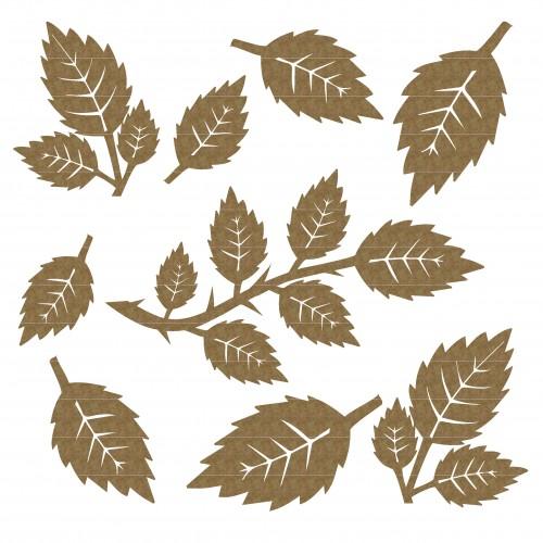 Rose Leaves - Chipboard