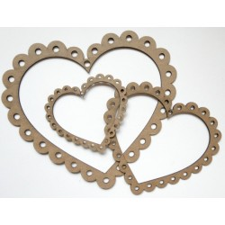 Scalloped Heart Frames