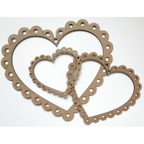 Scalloped Heart Frames - Valentine s Day