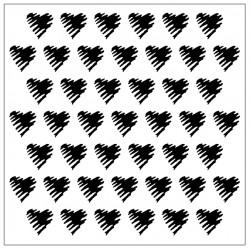 Scribble Heart Stencil