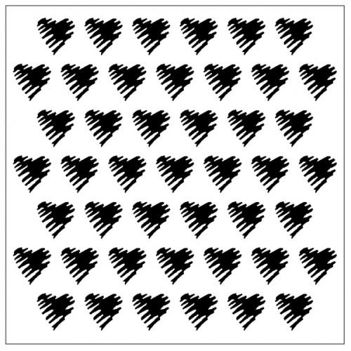 Scribble Heart Stencil - Stencils