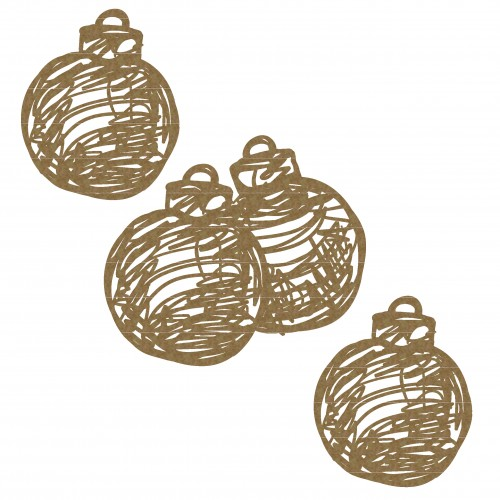 Scribble Ornaments - Christmas