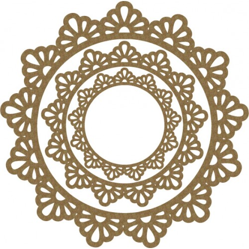 Simple Doily Frames - Frames
