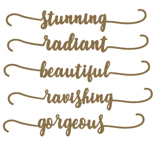 Gorgeous Small Border Word Set - Words