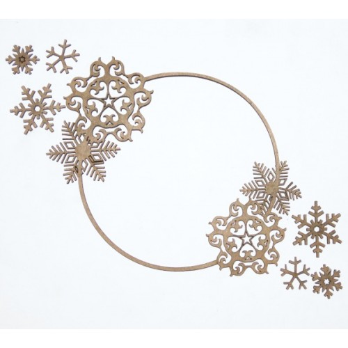 Snowflake Frame - Winter