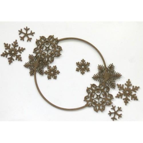 Snowflakes Frame (Large) - Frames