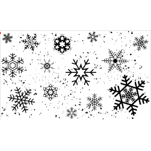 Snowflakes Stamp - Backgrounds