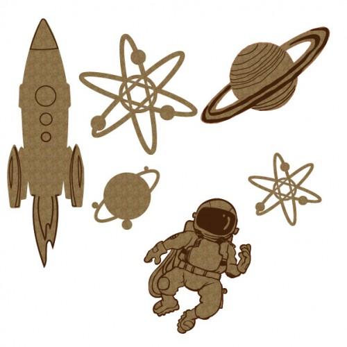 Space Set - Chipboard