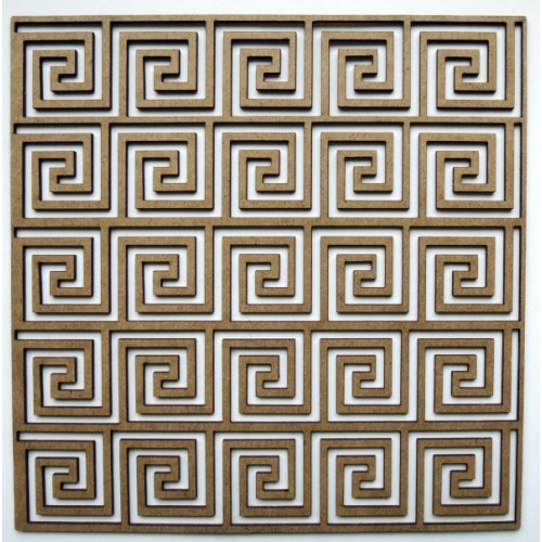 "Spiral Square Panel - 6"" x 6"" Lattice Panels"