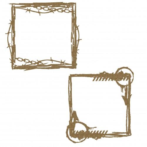Grunge Square Frames - Frames