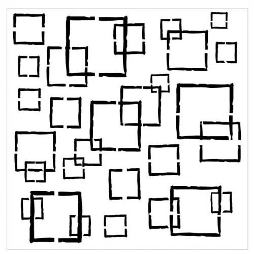 Distressed Square Stencil - Stencils