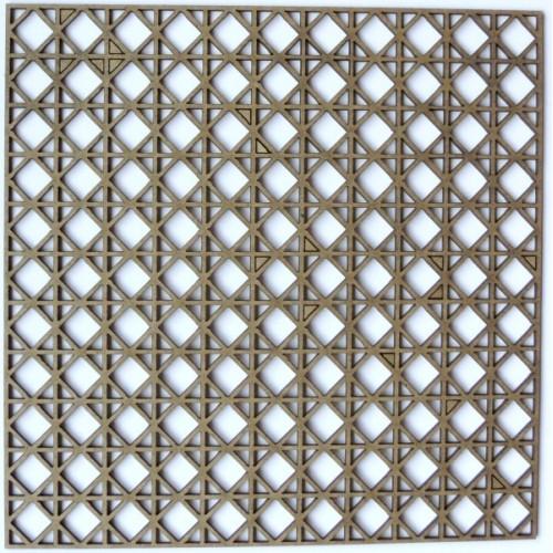 "Square inside Square Panel - 6"" x 6"" Lattice Panels"