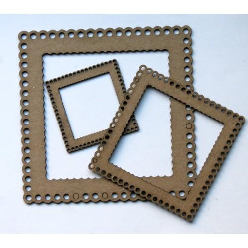 Square Scalloped Frames - Frames