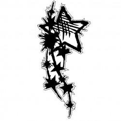 Grunge Star Corner Stamp