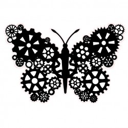 Steampunk Butterfly Stamp