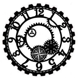 Steampunk Clock Stamp