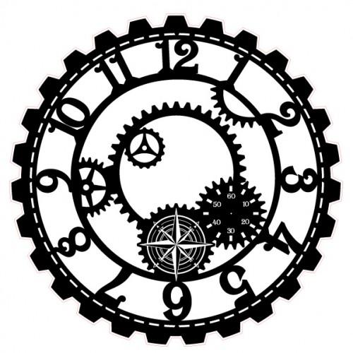 Steampunk Clock Stamp - Steampunk