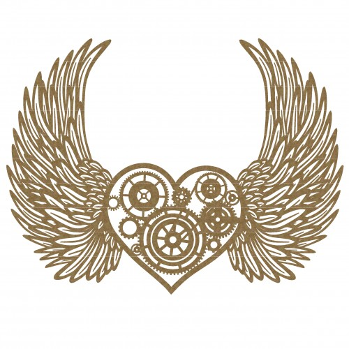 Steampunk Heart with Wings - Steampunk