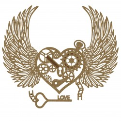 Steampunk Heart 3 with Wings