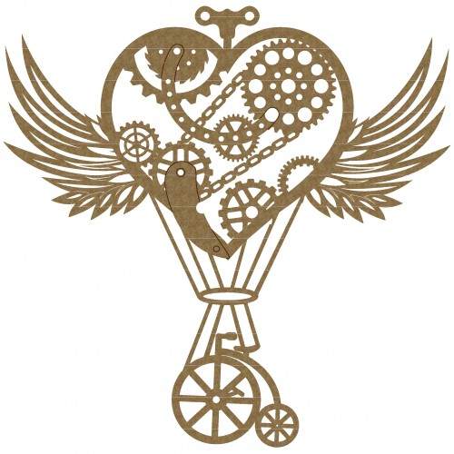 Steampunk Heart Hot Air Balloon - Steampunk
