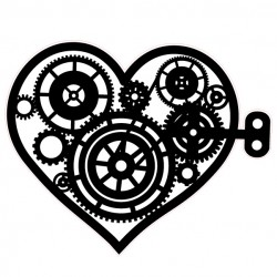 Steampunk Heart Stamp