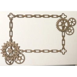 Steampunk Chain and Gears Frame