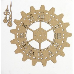 Steampunk Gear Clock 3