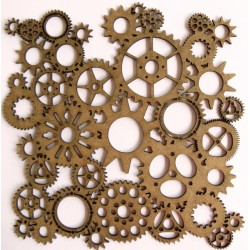 Steampunk Gear Panel