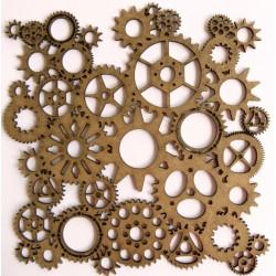 Steampunk Gear Panel