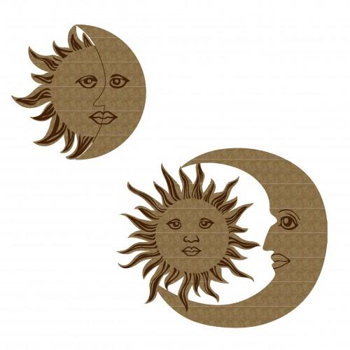 Sun and Moon - Chipboard