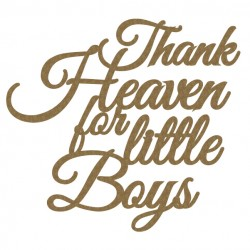 Thank Heaven for little Boys.