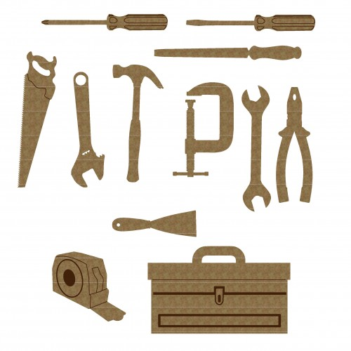 Toolbox Set - Chipboard