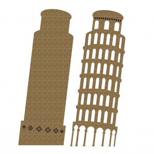 Leaning Tower of Pisa - Chipboard