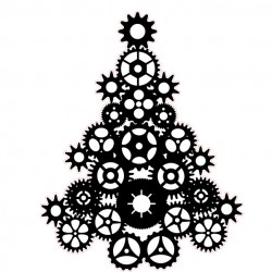 Steampunk Tree Stamp